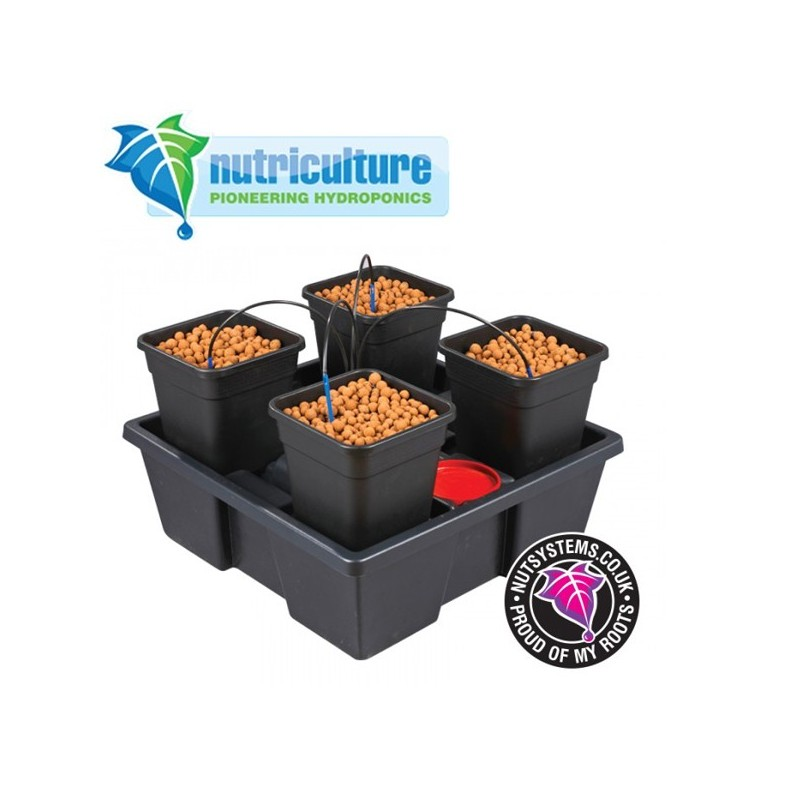 Wilma Small 4 pots 6 Litres Nutriculture-Systèmes Hydroponiques- growstore.fr