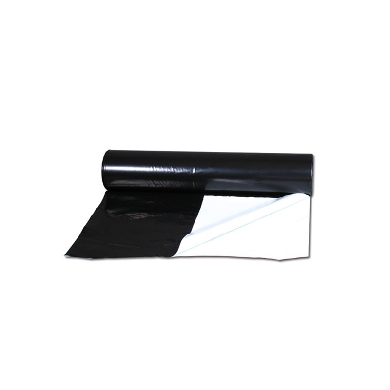 Bâche Noir/Blanc 125µm EasyGrow 2x1M-Bâches & Mylar- growstore.fr