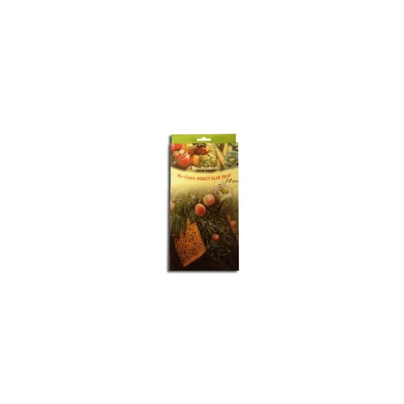 Panneaux Gluants x10 Hy-Catch INSECT GLUE TRAP Jaunes 13x22,5cm-Accessoires culture- growstore.fr