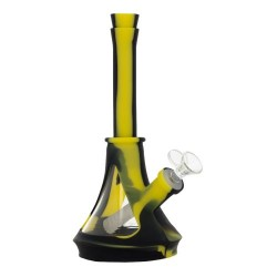 Bong en silicone et bol en verre - 25.4cm - QNUBU Colorado
