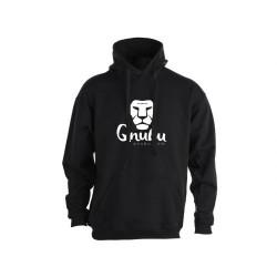 Hoodie noir unisexe - S/M/L/XL - QNUBU