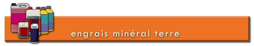 Engrais minéral pour la culture de plantes en terre