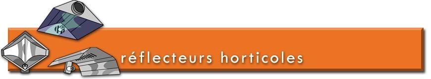 Réflecteurs horticoles pour lampes de culture